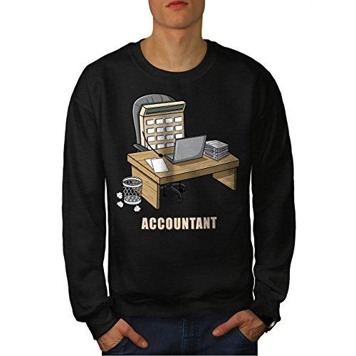 wellcoda Buchhalter Job Männer XL Sweatshirt