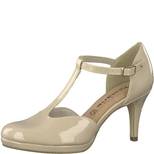 Tamaris Donna Scarpe col Tacco Cinturino 1-1-24433-32, Signora Scarpe col Tacco, Cinghia di Tenuta fine, Elegante,Touch-IT,Nude Patent,37 EU / 4 UK
