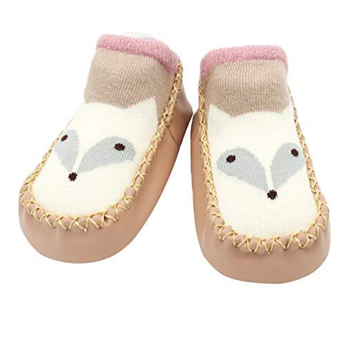 Baby Walking Boots, Toddler Neugeborenes Cartoon Schuhe First Walkers mit Soft Anti-Slip Bottom für Girls Boys 0-3 Jahre,coffeecolor1,15cmlength -