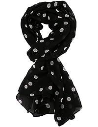9fe9f4ac8bc1 Kissing U Femmes élégantes en mousseline de soie à pois Imprimer Foulard  Châles Wrap souple longue