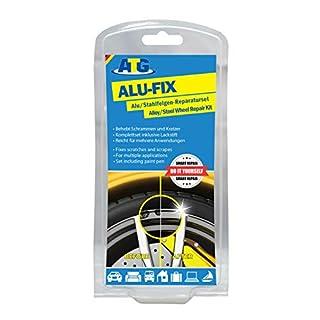 ATG ALU-FIX Alu-Felgen-Reparaturset - Alufelgen schnell und einfach reparieren - inkl. Lackstift - 13tlg.