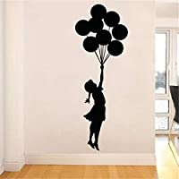 DZBMY Wall stickers,Flying Balloon Girl Vinyl Wall Decals Self-Adhesive Home Decor