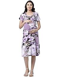 e6effad689c68 GOLDSTROMS Minelli Women's Rayon Fabric Maternity/Nursing/Feeding Gown