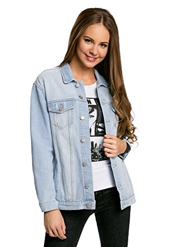 oodji Ultra Women's Oversized Denim Jacket