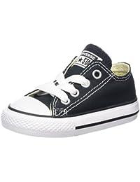 Converse - Zapatillas de tela para niños, Negro (Black Ox), 21
