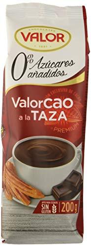 Valor, Chocolate a la taza Valorcao 0% azúcares añadidos - 12 de 200 gr. (Total: 2400 gr.)