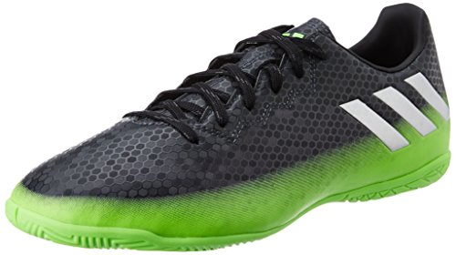 adidas Messi 16.4 In, Entraînement de football homme Gris (Dark Grey/Silver Met./Solar Green)