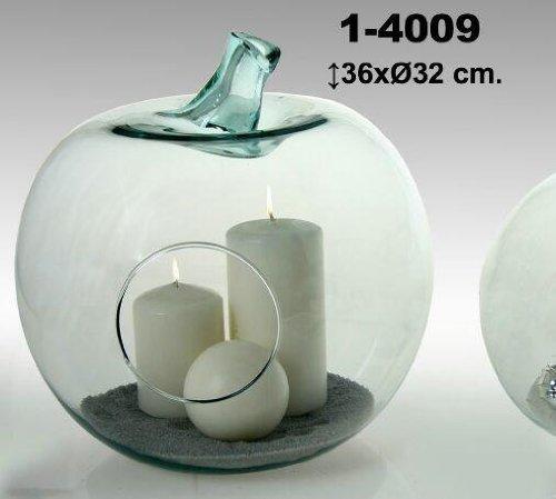DonRegaloWeb - Figura con forma de manzana de cristal para decorar.