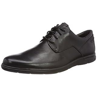Clarks Herren Vennor Walk Derby, Schwarz (Black Leather), 43 EU