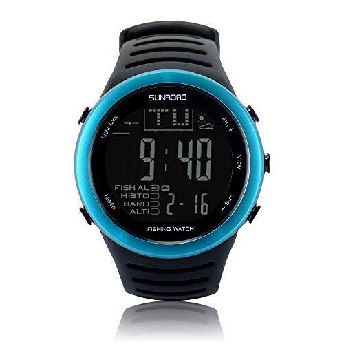 Sunroad sport all'aria aperta orologio elettronico impermeabile orologio multifunzione in silicone cintura da pesca alpinismo orologio pneumatico
