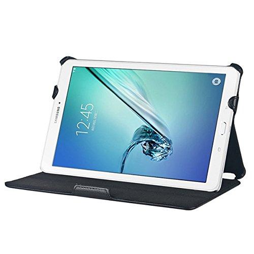 Gecko Samsung Galaxy Tab S2 8 Slimfit Hülle - Schwarz - Multifunktioneller Tasche bietet Schutz und Multimedia-Komfort / Cover mit Präsentationsfunktion - Tablethülle geeignet für Samsung Galaxy Tab S2 SM-T710 / SM-T715 (8