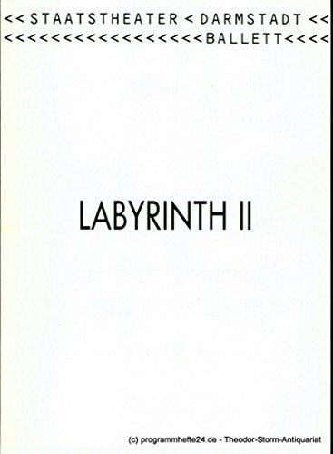 Programmheft LABYRINTH II Ballett von Andris Plucis. Premiere 18. Januar 1992. Programmbuch Nr. 9 Spieljahr 1992 (Das Labyrinth Kostüme)