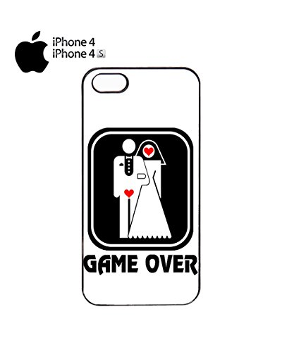 Game Over Funny Marriage Married Poor Guy Boy Mobile Phone Case Cover iPhone 4&4s Black