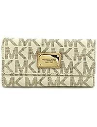 4de5b670a9 Michael Michael Kors Womens Mk Jet Set Checkbook Wallet