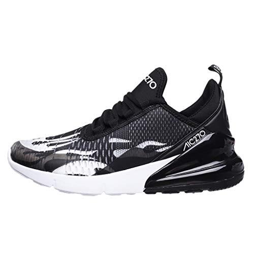 Overmal Garçon Chaussure de Course Homme Chaussures de Outdoor Sneakers Mode Basket Chaussure de Course Sport Walking Shoes Running Compétition Entraînement Chaussure (42 EU, Noir 3)