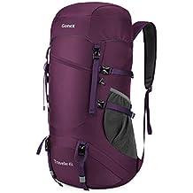 Gonex 45L Mochila Senderismo Bolsa de Trekking Bolsa Plegable Ligero Camping Deporte Vivac Viaje Equipaje de