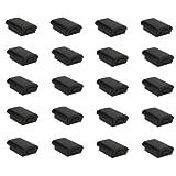 SODIAL(R) Kit Shell caso de la cubierta 20x Bateria para Xbox 360 Wireless Controller Negro Nuevo
