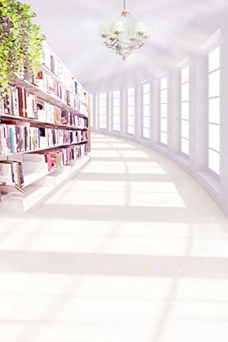 A.Monamour Weißem Hintergrund Kronleuchter Licht Bücher Aus Der Bibliothek Regal Studie Studio Kinder Fotohintergründe Vinyl - Kronleuchter Bibliothek