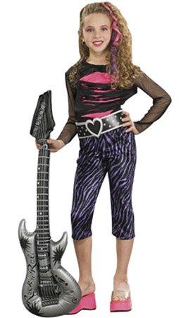 Rubies Disfraz de Rock Star para niña S-(3/4 años)