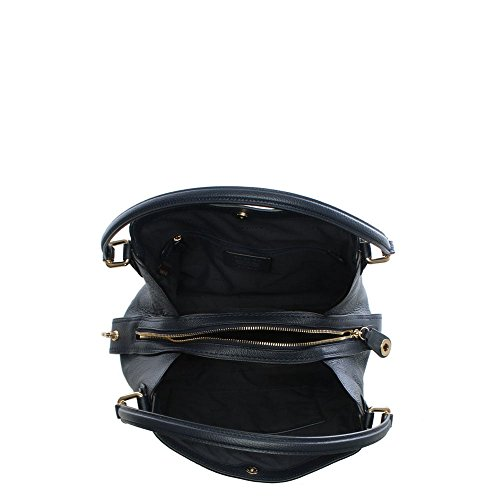 da2fe5ab1b Coach Edie 31 Navy Pebbled Leather Shoulder Bag - Warehouse Handbags