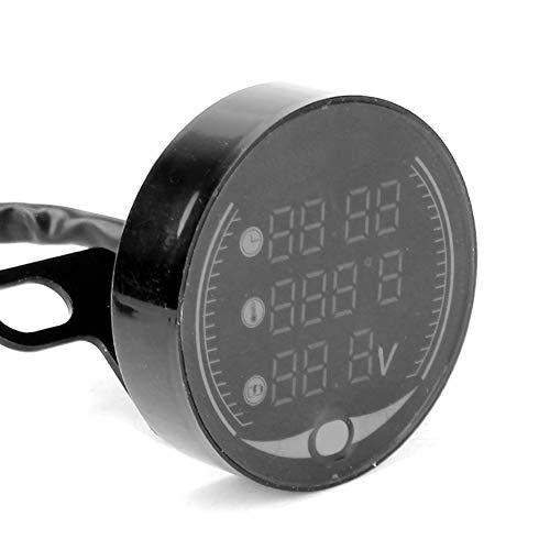 Pantalla 3 en 1 Instrumento resistente al agua voltímetro digital fácil de...