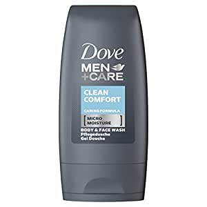 Dove Men + Care Clean Comfort Body and Face Wash 55 ml - Pack of 8