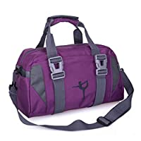 lailongp Yoga Mat Bag Tote Shoulder Bags,Travel Hanging Toiletry Bag Make up Wash Bags, Clothes Carrying Gym Fitness Handbag Exercise Sports for Women