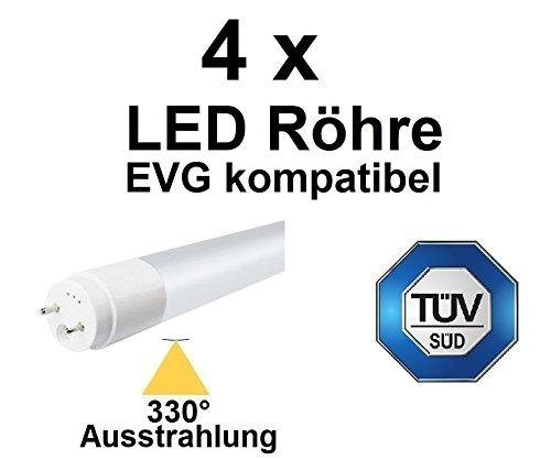 Für EVG OHNE Starter, 4 x 150 cm LED Röhre T8 / G13, 29 Watt, 330° AUSSTRAHLUNG, 3480 LUMEN, Neutralweiß ~ 4000 Kelvin, ersetzt 58-70 Watt Leuchtstoffröhre. EVG KOMPATIBEL, TÜV zertifiziert