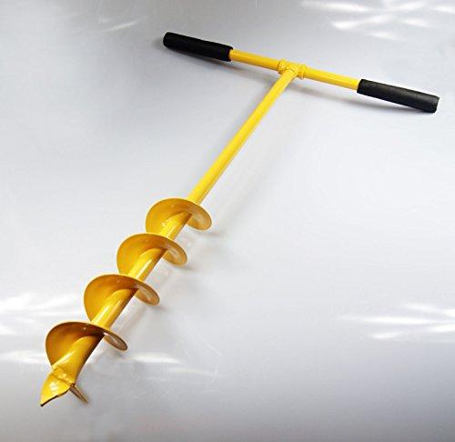 robuster ø 100 mm Handerdbohrer mit 4 Spiralen ! Pflanzbohrer Pfahlbohrer Handbohrer Erdbohrer Erdlochbohrer Pfostenbohrer