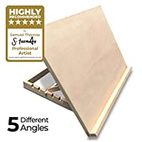 Pablo® - Premium A3 Art & Craft Work Station - A3 Adjustable Wooden Desk/Table Easel/Drawing Board - Ideal for Sketching, Drawing & Planning - Made from Beechwood - 5 Different Angles
