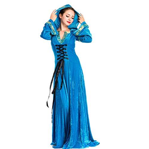 Lady Kostüm Genie - DUQA Halloween Mittelalter Hostess Kost¨¹m Abendkleid Lady Mittelalter Kost¨¹m Halloween Kost¨¹m
