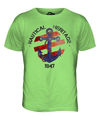 CandyMix Nautisch Nautical Heritage Herren T Shirt Limettengrün