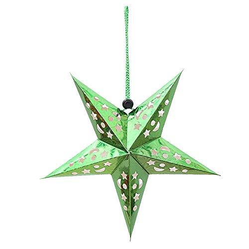 �ngende Dekoration Decke Papier Stern Flitter Anhänger Verzierung für Weihnachtsbaum Hochzeitsfeier Hotel Festival - 30 cm, 10 Stücke, Grün ()