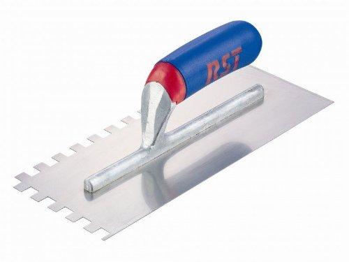R.S.T. Notched Trowel - Square Serration 10x10mm Soft Grip