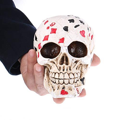 chädel Modell Replik Spielkarten realistische Harz - ideal für anatomische Tracing, medizinische Ausbildung, Halloween-Party, Schreibtisch Dekoration ()