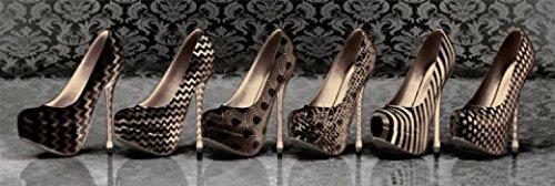 1art1 Schuhe - Dunkle Highheels Midi-Poster 91 x 30 cm