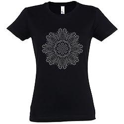 Camiseta Mujer de Mandala manga corta