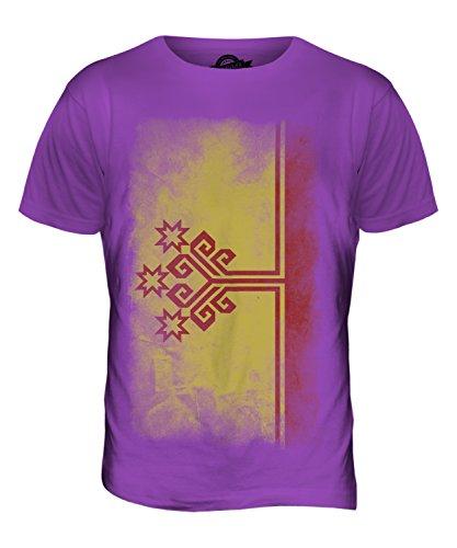 CandyMix Tschuwaschien Verblichen Flagge Herren T Shirt Violett
