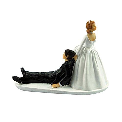 Provide The Best Lustige Braut-Bräutigam-Figürchen Humor Bevorzugungen einzigartiges Geschenk Wedding Cake Toppers Dekoration (Einzigartige Hochzeitstorte Topper)