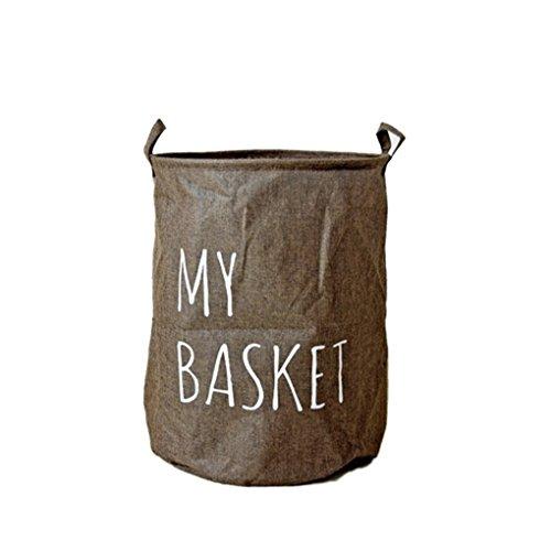 QHGstore Cotone Lino Camera dei bambini del sacchetto dell'organizzatore del Basket archiviazione per il giocattolo (Basket Archiviazione)