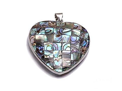 Jyx faite à la main 45x 47mm en forme de coeur Collier Pendentif Ormeau