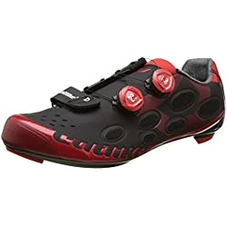 Catlike Whisper Road 2016, Zapatillas de Ciclismo de Carretera Unisex Adulto, Negro (Black/Red), 42 EU