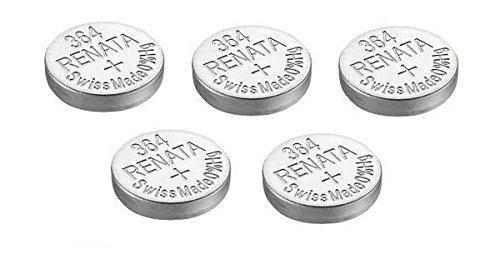 5 x Renata Uhrenbatterien Silber Oxid Hergestellt In Der Schweiz 0{155afcdccf8fa0768a5210aaced1cde5b7a8732ddffff5856e8b7a6f6938ff70} Quecksilber Lange Lebensdauer - Argenté, 5 x 364 ou SR621SW or AG1