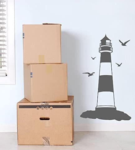 Lighthouse Seagulls Wall Sticker Kids Bedroom Decal Graphic Mural Nautical Seaside Marine