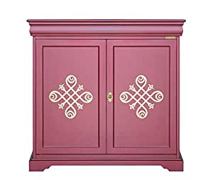 arteferretto meuble buffet 2 portes style louis philippe finition rouge rubis avec frise or. Black Bedroom Furniture Sets. Home Design Ideas