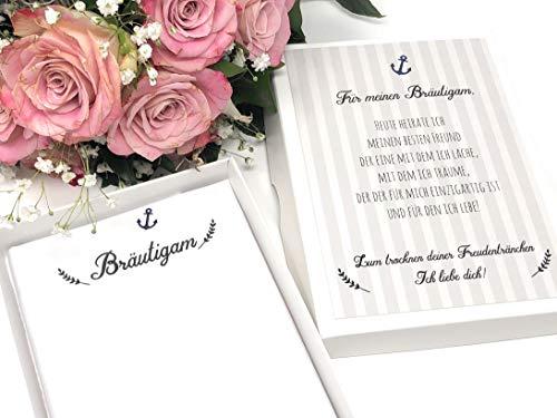 Hochzeit Geschenk Bräutigam - Stofftaschentuch für Freudentränen (Bräutigam, Geschenk Für Braut)