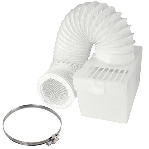 SPARES2GO Condenser Vent Box & Hose Kit With Jubilee Clip for BOSCH Vented Tumble Dryer (4 / 100mm Diameter) by Spares2go