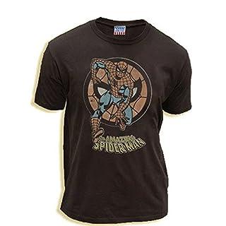 TV Store The Amazing Spiderman Circle schwarz Wash Erwachsene T-Shirt - Small