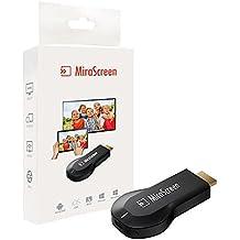 MiraScreen Dongle 1080P HDMI WIFI adaptador de pantalla, soporte DLNA miracast Airplay (Compatible con iphone, ipad, mac), libre instalación (no App, no conductor) TV Dongle