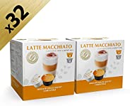 Cafè Latte, Dolce Gusto-Compatible, (2X16 Capsules), by REAL COFFEE, Denmark